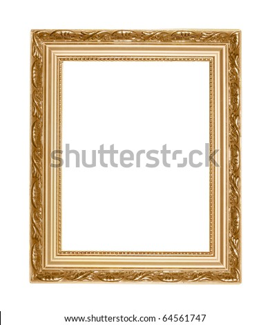 picture frame isolated on white - stock photo
