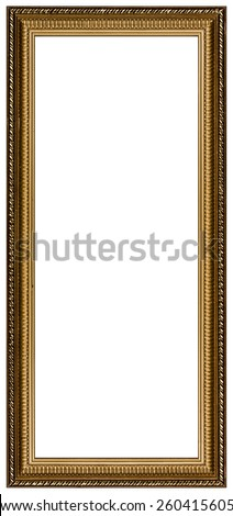 Picture frame, isolated on white background - stock photo