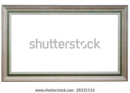 Picture frame isolated on white. Clipping path included. - stock photo