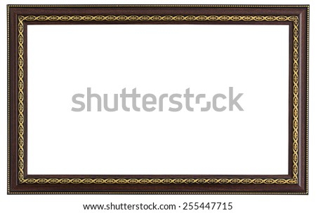 picture frame isolated on white with clipping path - stock photo
