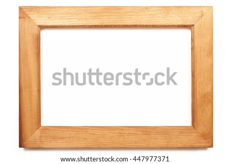Picture frame of wood - stock photo