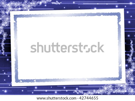 Picture frame on a dark blue background