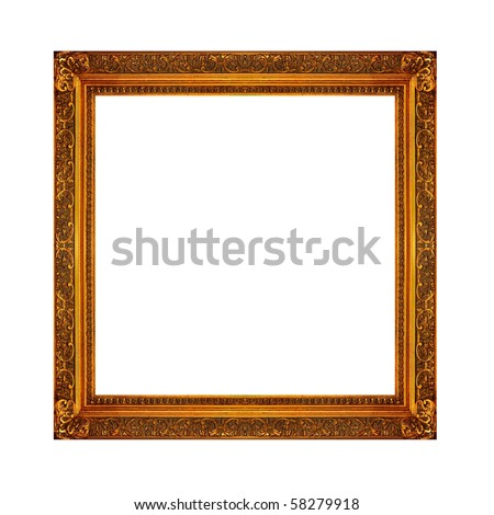 Picture frame on a white background - stock photo