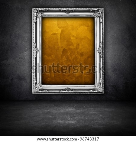 picture frame on wall - stock photo