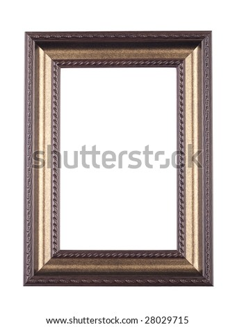 picture frame on white - stock photo