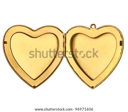 Picture Frame - Open Heart Locket - stock photo