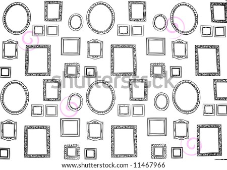 picture frame pattern - stock photo