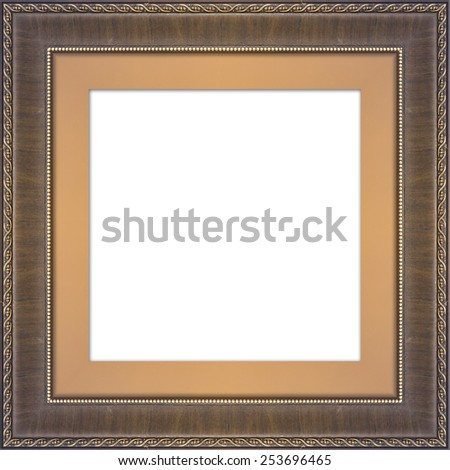 Picture frame,Photo art gallery,isolated on white background, with clipping path - stock photo