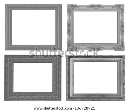 picture frame set isolated on the white background