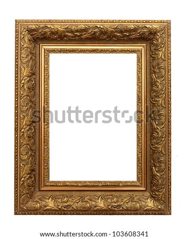 Picture  frame with a decorative pattern - stock photo