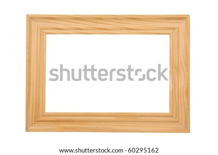 Picture Frame / Wooden frame on a white background. - stock photo