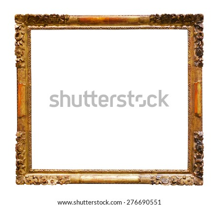 picture frames. Isolated over white background, may be used for photo or image - stock photo