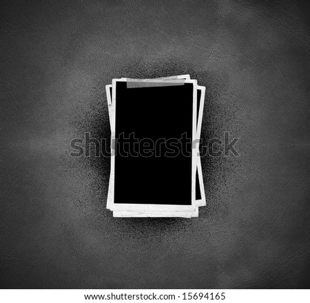 Picture Frames (on leather background) - stock photo