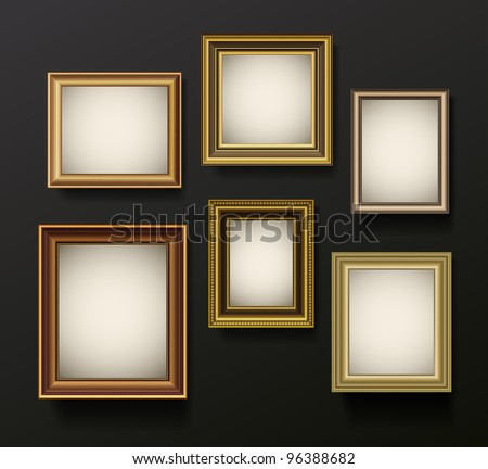 picture frames set on wall