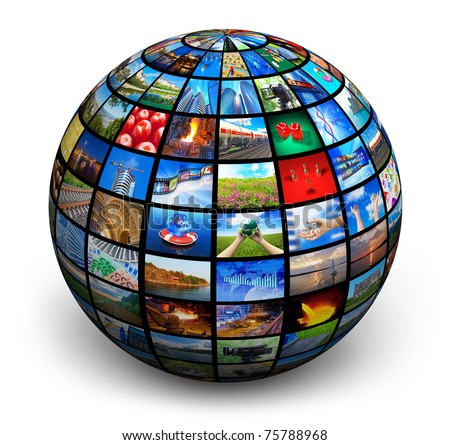 Picture globe - stock photo