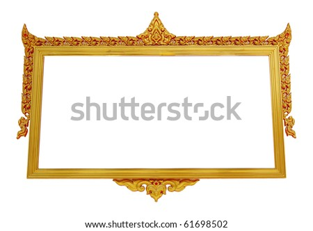 Picture gold frame Thai style. - stock photo