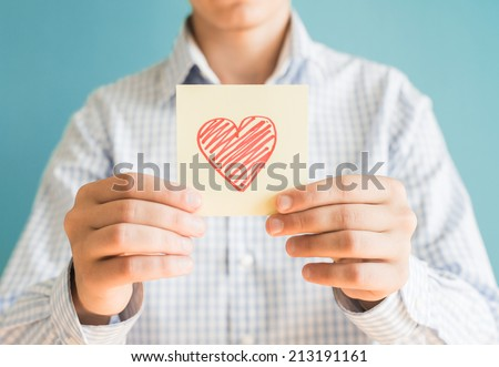 Picture icon heart in hand