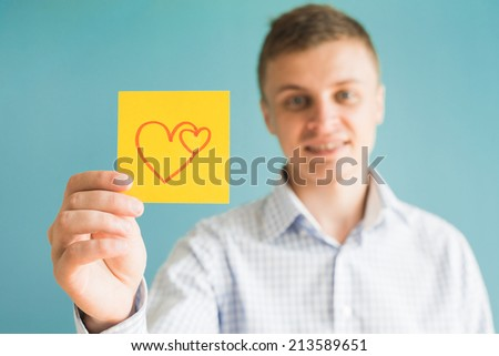 Picture icon heart in hand - stock photo