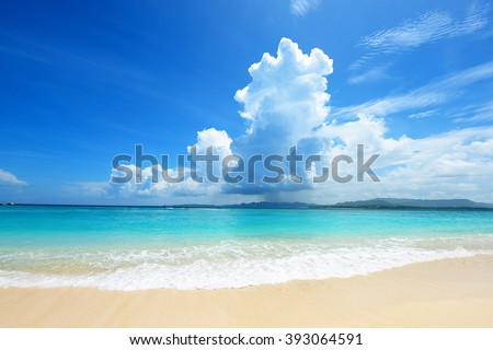 Picture of a beautiful beach in Okinawa - stock photo