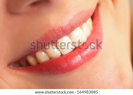 Picture of  a beautiful smileing young woman - stock photo