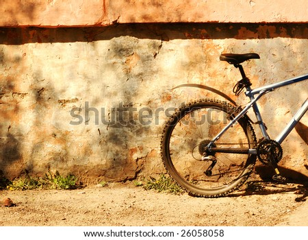 picture of a bicycle on a sunny day - stock photo
