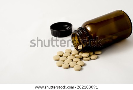 Picture of a Brewer's yeast pills  - stock photo