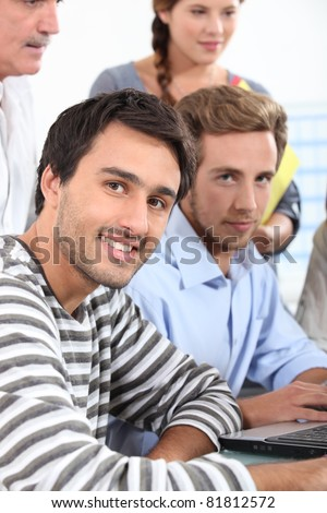 picture of a business meeting - stock photo