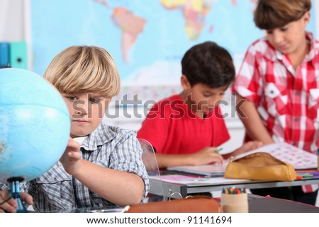 picture of a classroom - stock photo