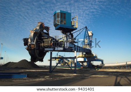Picture of a coal terminal machinery.