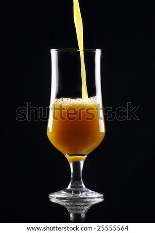 Picture of a cup of orange juice