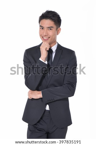 picture of a elegant young smile man looking at the camera