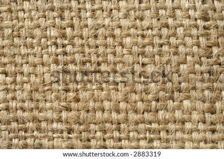 Picture of a flax canvas - stock photo