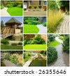 Picture of a Garden collage - stock photo