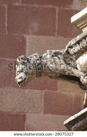 Picture of a gargoyle from spain. - stock photo