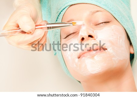 Picture of a girl at spa procedures - stock photo