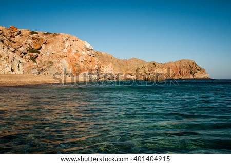 Picture of a greek seascape on the island of Milos