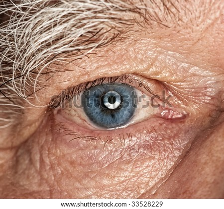 Picture of a human eye - stock photo
