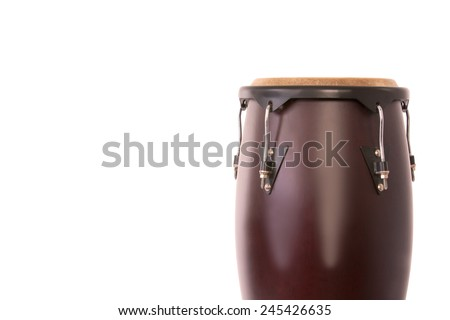 Picture of a isolated Bongo .Traditional African Music Instrument - stock photo
