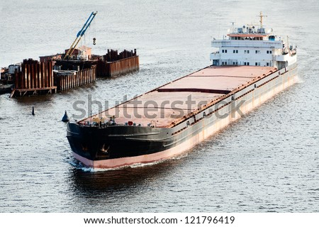 Picture of a large barge - stock photo