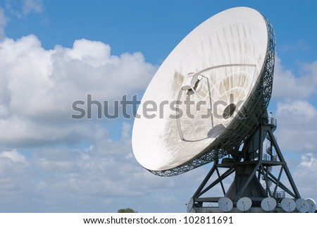 Picture  of a large satellite dish for transatlantic communication - stock photo