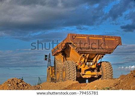 Picture of a large truck - stock photo