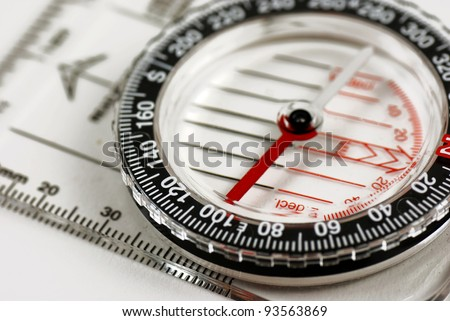 picture of a magentic compass for orientation - stock photo