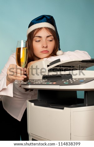 Picture of a new year at office - stock photo