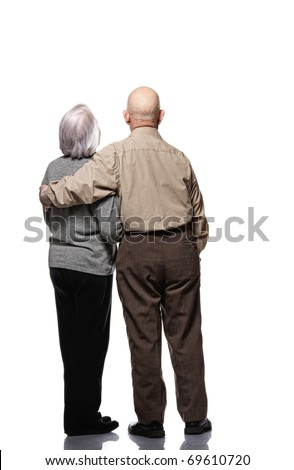 Picture of a senior couple - stock photo