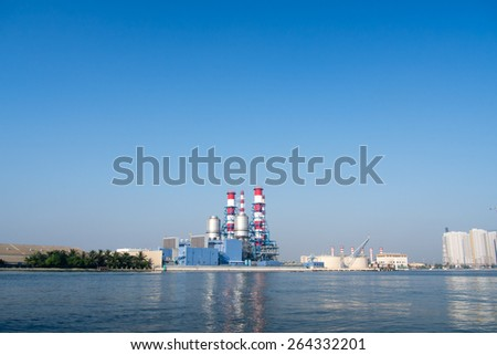 Picture of a small power plant - stock photo
