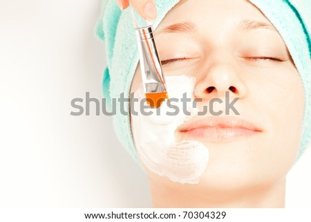 Picture of a woman at spa procedures - stock photo