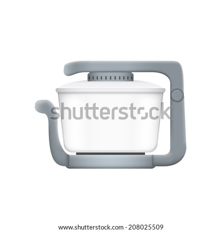 picture of aerogrill on white background - stock photo