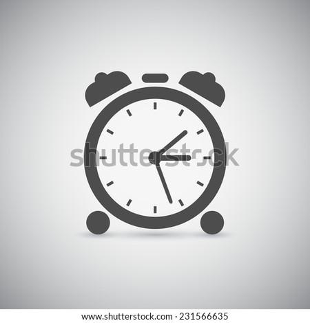 picture of alarm clock icon - stock photo