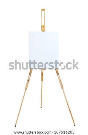 Picture of an  easel on isolated background - stock photo
