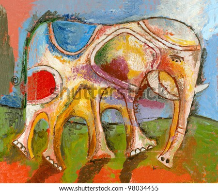 Picture of an elephant. - stock photo